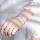 925純銀雙層月光石手鏈女日韓月光森林設計手飾【奇妙商鋪】