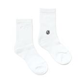 HOWDE LAB CREW COCKS 白色 純色 中高筒襪 男女 (布魯克林) 20SS01WH
