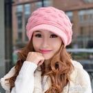 毛帽-公主兔帽子 女士秋冬天冬季韓版 兔毛帽毛線帽 保暖針織帽 可愛潮 草莓妞妞