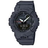CASIO G-SHOCK 活力充沛計步藍芽雙顯錶-鐵灰(GBA-800-8A)