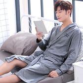 春秋季睡袍男士純棉長袖日式浴衣和服夏季薄款睡裙長袍款浴袍睡衣 艾尚旗艦店