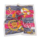 TRUSSARDI 海洋風情純棉帕巾(桃)989045-21