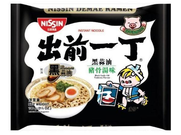 【麻吉熊】日本 日清出前一丁拉麵 黑蒜油口味100g(單包)