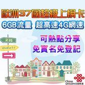 中國聯通合作 台灣現貨 歐洲上網卡6GB 歐洲預付卡 歐洲上網 法國 英國 德國