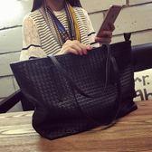 黑五好物節★包包新款女包潮流編織包大容量單肩包時尚休閒托特包簡約大包