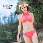 東京著衣-多色沁甜蕾絲拼接兩件式泳裝(180281)