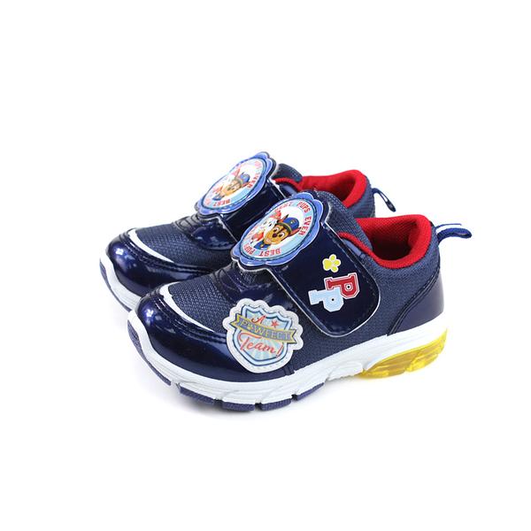 PAW PATROL 休閒運動鞋 電燈鞋 深藍色 魔鬼氈 中童 童鞋 D93014-550 no024