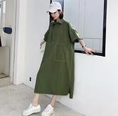 韓洋裝連身裙大尺碼女裝L-3XL寬鬆裙NC417.835胖胖美依