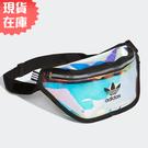 【現貨在庫】ADIDAS WAIST BAG 側背包 腰包 休閒 潮流 透明 鐳射反光 【運動世界】FM3261
