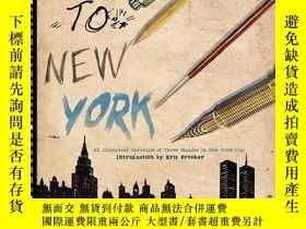 二手書博民逛書店Drawn罕見To New York: An Illustrated Chronicle of Three Dec