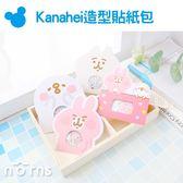 Norns【Kanahei造型貼紙包】60枚 卡娜赫拉正版授權 日記手帳裝飾貼 NENE貓 小雞P助 粉紅兔兔