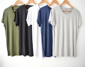 男生短袖T恤 外貿春夏款莫代爾棉短袖T恤圓領修身打底半袖體恤衫男生汗衫 快速出貨