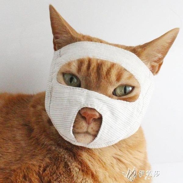 貓咪眼罩清潔美容洗澡用品貓寵物貓嘴套貓臉罩貓面罩防咬 【快速出貨】