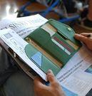 新韓國PU護照包 旅行多功能三折護照證件...