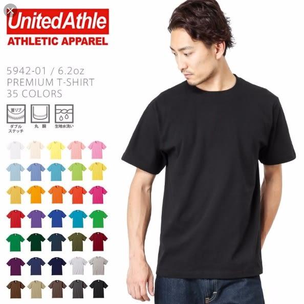 UNITED ATHLE 日本UA 5.6oz 高磅數 多色 素T 男女(布魯克林) 3500101-
