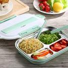 日式304不銹鋼分格保溫飯盒微波爐成人塑料可愛學生便當盒1層餐盒【一周年店慶限時85折】
