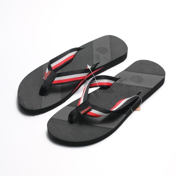WAVE3  黑紅 織布 夾腳拖 拖鞋 男款(布魯克林) 17101101