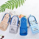 可愛貓咪書包造型筆袋大容量小學生男女文具袋創意簡約帆布鉛筆盒 好再來小屋