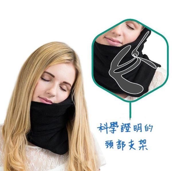 現貨便攜飛機旅行枕 頸部支撐枕 頸椎枕 U型枕 護脖頸巾 (顏色不足隨機出貨)紅色/黑色