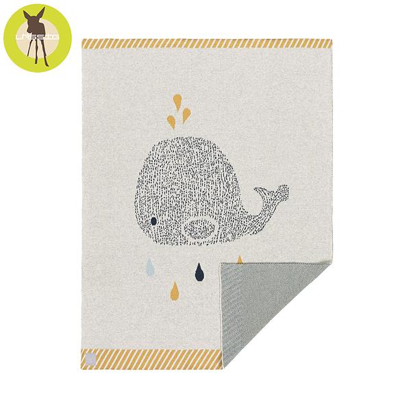 德國LASSIG-有機棉嬰兒毯-鯨魚