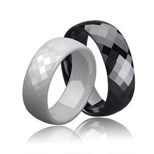 閃耀個性黑白配 太空瓷情侶戒指 對戒 聖誕節禮物J248