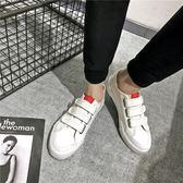 館長推薦☛春季新款魔術貼帆布鞋男韓版潮流休閒小白鞋