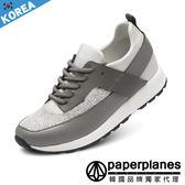 休閒鞋正韓製 金蔥皮革拼接透氣網布止滑軟底 鞋~B7900171 ~3 色韓國品牌紙飛機