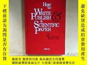 二手書博民逛書店How罕見To Write And Publish A Scie