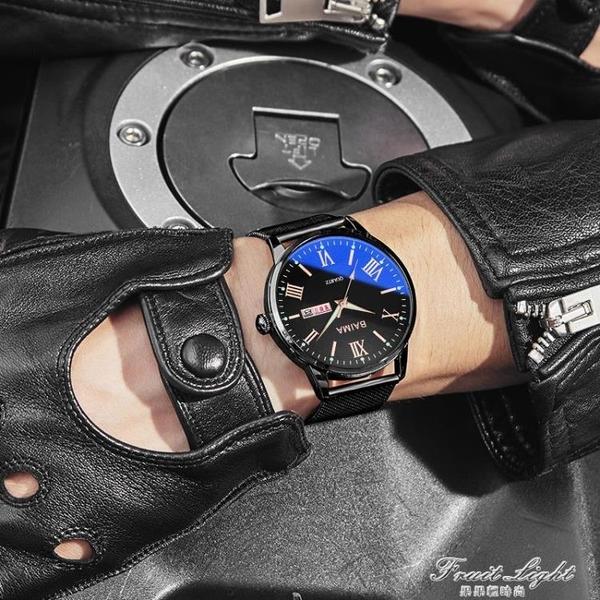 新款手錶男高中初中學生潮流電子機械石英男士正品霸氣黑科技男錶 果果輕時尚