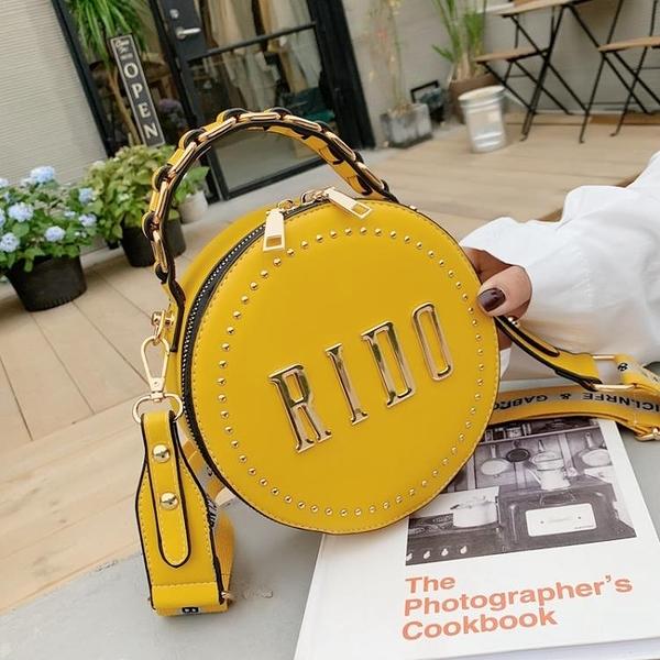 手提包 網紅小包包女包2020春夏新款潮韓版百搭洋氣斜背包/側背包時尚手提小圓包