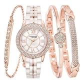 Anne Klein 女錶手鍊組 玫瑰金色