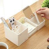 筆筒創意時尚韓國小清新可愛學生文具收納盒桌面擺件多功能辦公室筆桶簡約大容量 至簡元素