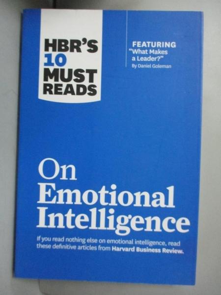 【書寶二手書T1/心理_HPC】HBR s 10 Must Reads on Emotional Intellige..._Goleman