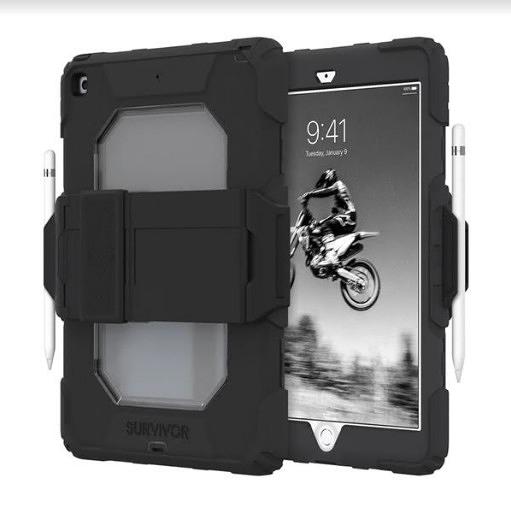 【唐吉】Griffin Survivor All-Terrain iPad 10.2吋 多重防護保護套組-黑/透明
