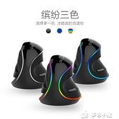 垂直滑鼠多彩M618PLUS垂直滑鼠豎握式有線滑鼠手立式設計手托RGB大手型 多色小屋