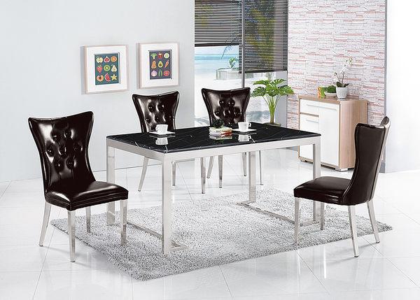 【森可家居】奧蘿不鏽鋼黑皮餐椅 7ZX888-3 黑色 歐風 宮廷風 復古工業風 超值限量折扣