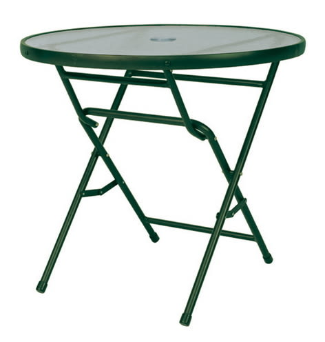 【 IS空間美學】半鋁折合休閒圓桌