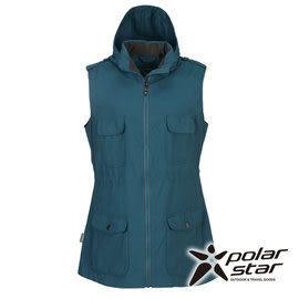 PolarStar 女 多口袋保暖背心『灰藍』P15204