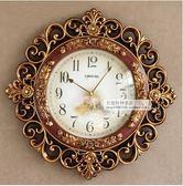 現代歐式鐘錶客廳簡約時尚掛鐘創意擺鐘裝飾壁鐘靜音臥室時鐘(8183GE)