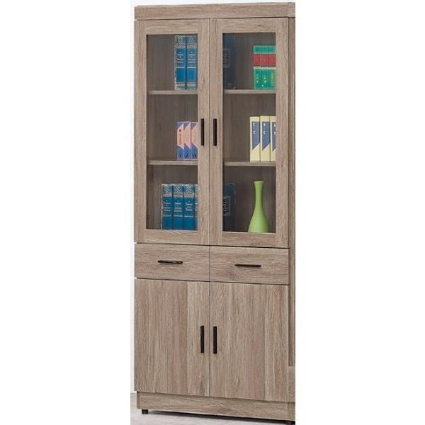 書櫃 書櫥 BT-165-5 古橡色中抽書櫥【大眾家居舘】