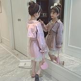 女童風衣2019新款秋裝女孩韓版洋氣兒童春秋中大童時尚外套中長款 【七七小鋪】