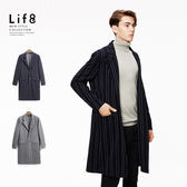 Formal 色織條 針織大衣-深藍色【11131】