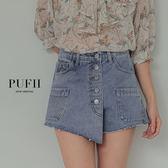 PUFII-短褲 排釦牛仔短褲-0523 現+預 春【CP16757】