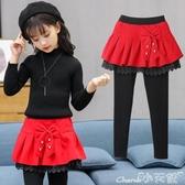 兒童褲裙女童褲裙冬裝新款兒童加絨打底褲外穿純棉洋氣韓版小女孩裙褲 新年禮物
