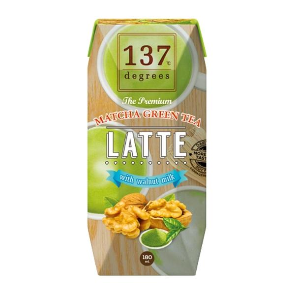 【137degrees】抹茶核桃飲 180mlX3瓶/組