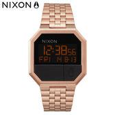 NIXON手錶 原廠總代理 A158-897 Re-Run獨特八角錶框 玫瑰金 潮流時尚鋼錶帶 男女 運動 生日 情人節禮物