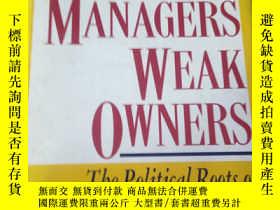 二手書博民逛書店Strong罕見managers; weak ownersY56