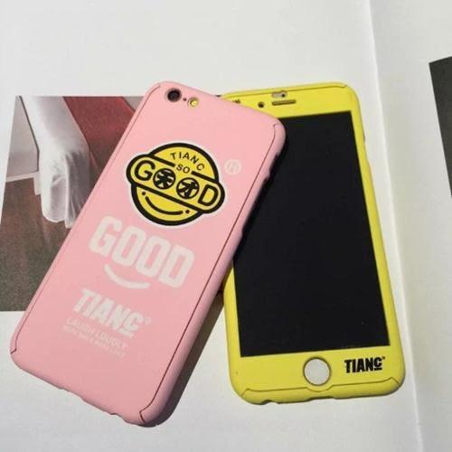 [24hr 火速出貨] 手機殼 天才 笑臉 賤你就笑 磨砂 包邊 硬殼 手機 防摔 保護套 潮 蘋果 iphone 6 plus