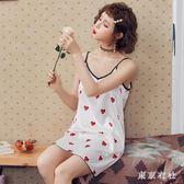 睡裙子女士夏天絲綢學生性感吊帶冰絲睡衣孕婦大碼寬鬆夏季薄款 QQ26517『東京衣社』