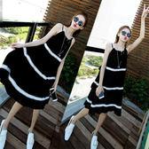大碼女裝新品胖mm雪紡連身裙洋裝子顯瘦寬鬆溫柔風吊帶裙夏沙灘裙  中元節禮物